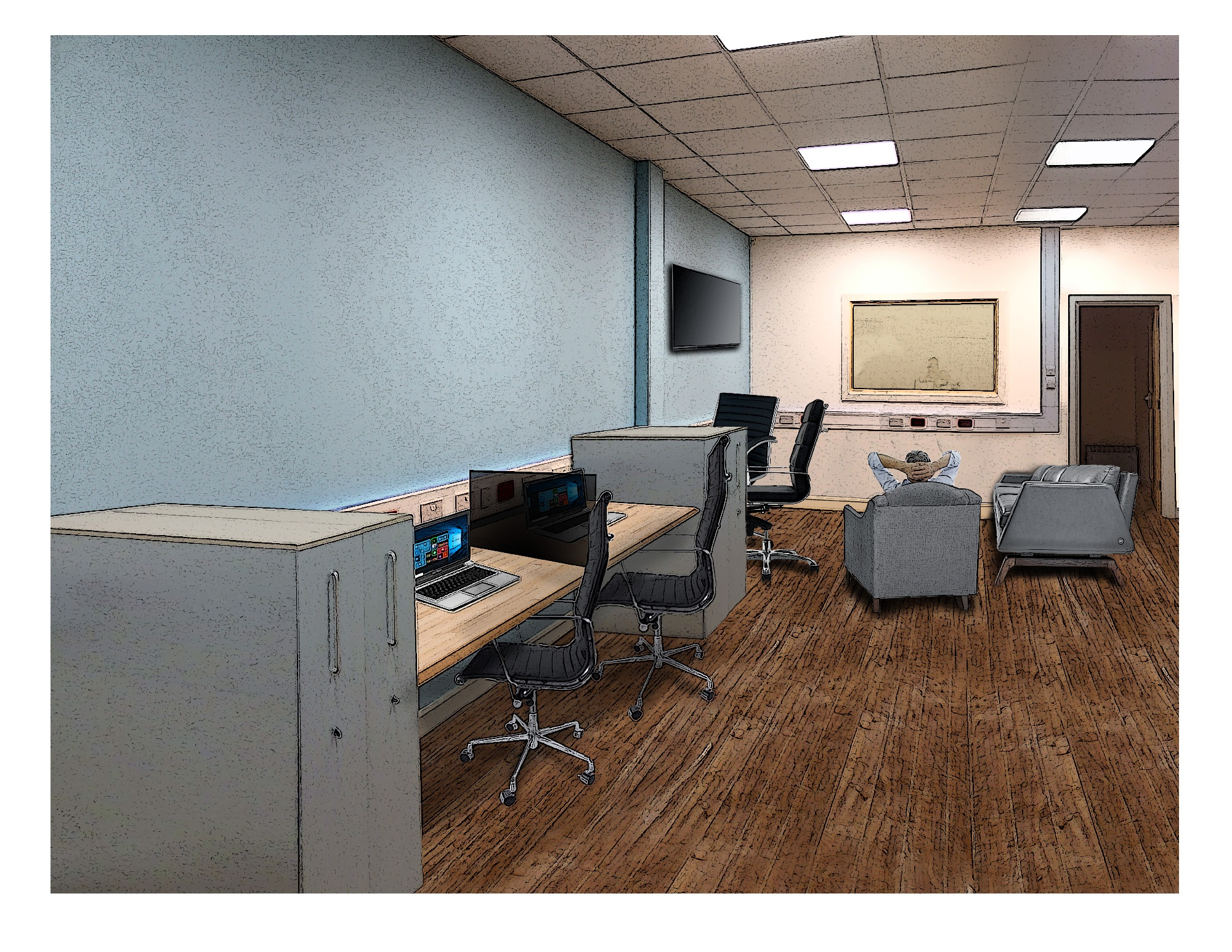 Artwork: The Hive's shared office space available in MK.