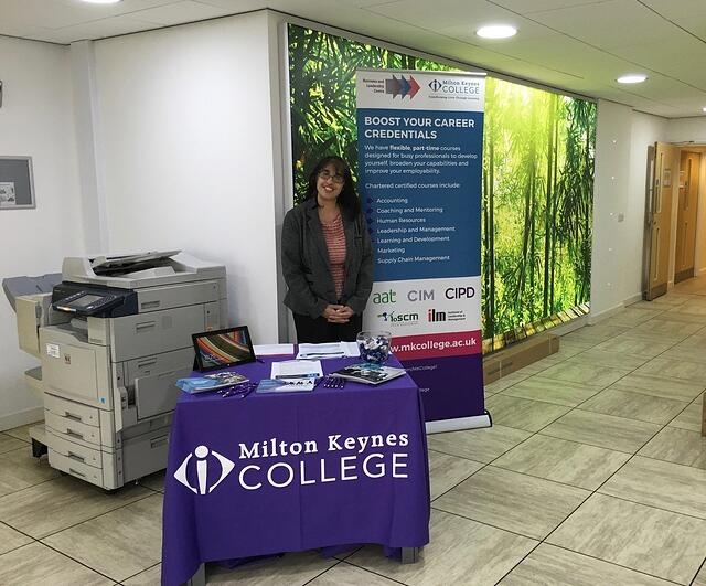 Renu from MK College visiting our iCentre at Newport Pagnell, Milton Keynes